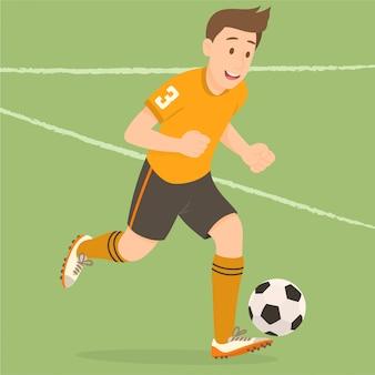 Jogador de futebol masculino