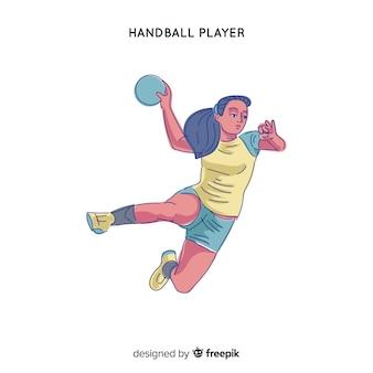 Jogador de handebol feminino