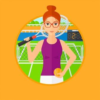 Jogador de tênis feminino.