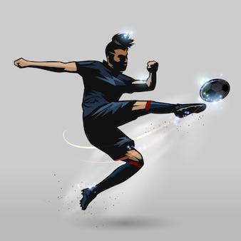 Jogador de vôlei de futebol