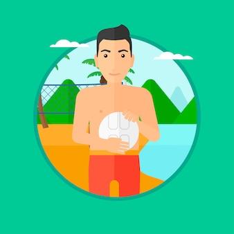 Jogador de vôlei de praia.