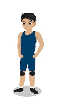 Jogador de wrestling de personagem masculino