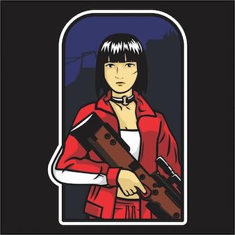 Jogador do jogo de tiro