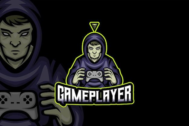 Jogador do jogo - modelo de logotipo do esport