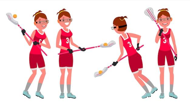 Jogador feminino de lacrosse