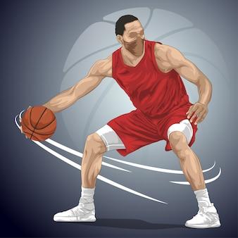 Jogadores de basquete driblam