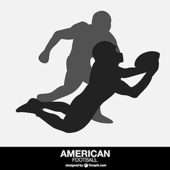 Jogadores de futebol americano do vetor