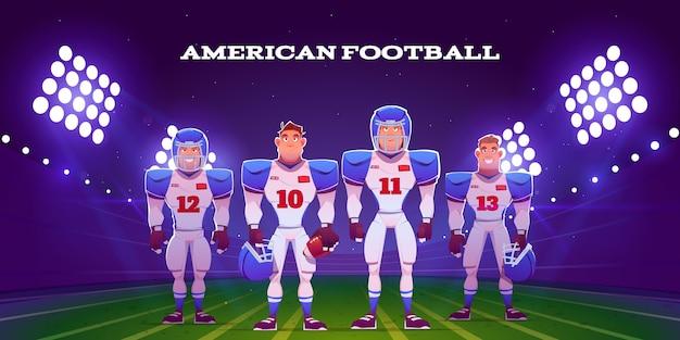 Jogadores de futebol americano ilustrados