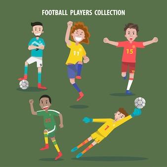 Jogadores de futebol em qualquer coleção de poses