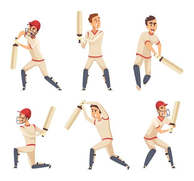 Jogadores do esporte de críquete