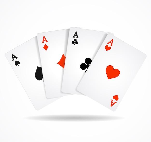 Jogando cartas de pôquer. mão de pôquer vencedora
