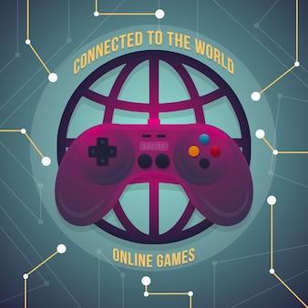 Jogando videogame on-line em todo o mundo