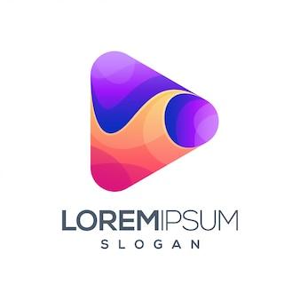 Jogar design de logotipo gradiente colorido