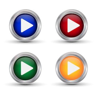 Jogar ícones. botões de vetor
