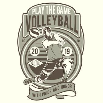 Jogar o jogo vôlei