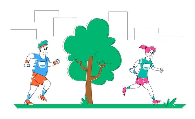 Jogging e esporte estilo de vida saudável