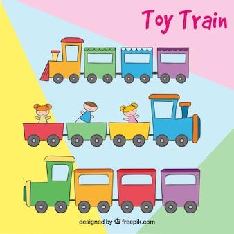 Jogo, colorido, brinquedo, trens