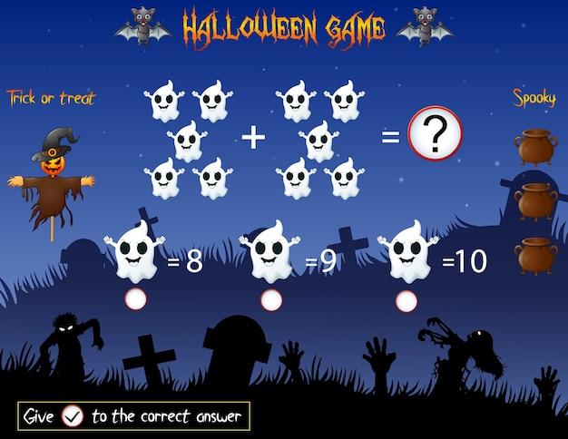 Jogo conta o fantasma no tema de halloween