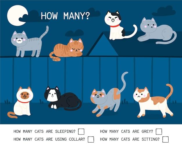 Jogo criativo de contagem para crianças do jardim de infância