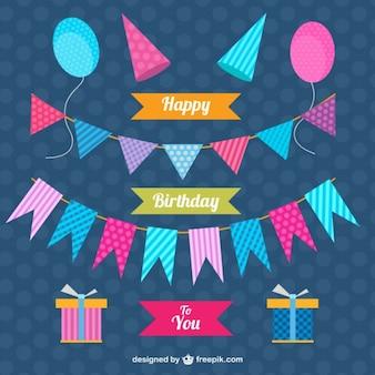 Jogo da decoração do aniversário