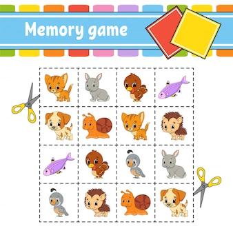 Jogo da memória para as crianças.
