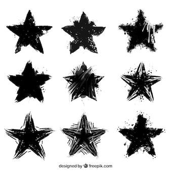 Jogo das estrelas em tinta preta