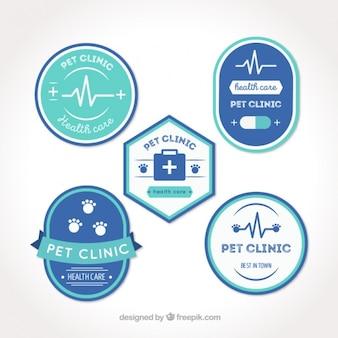 Jogo das etiquetas veterinários bonitas