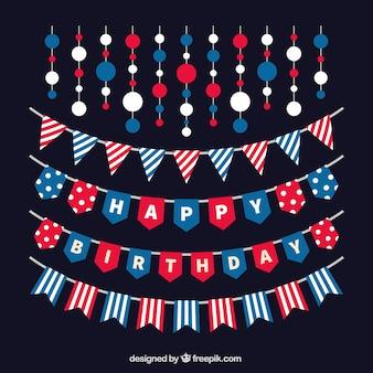 Jogo das guirlandas feliz aniversario