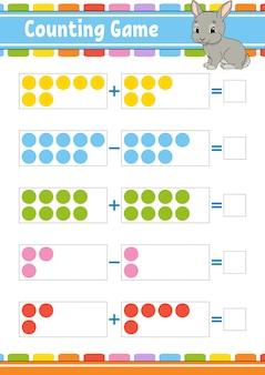 Jogo de adição e subtração para crianças