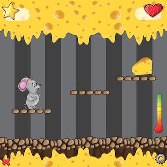 Jogo de arcade - mundo do queijo - ilustração vetorial para jogo - perfeito