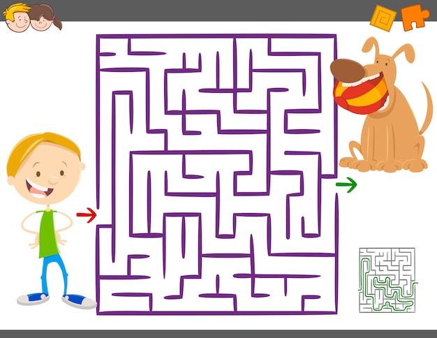 Jogo de atividade de labirinto para crianças