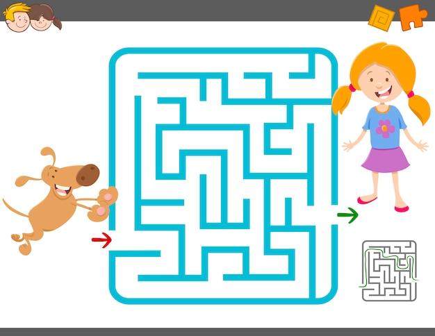 Jogo de atividade de labirinto