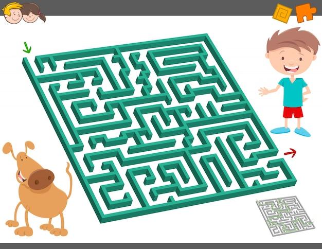 Jogo de atividade de lazer labirinto para crianças