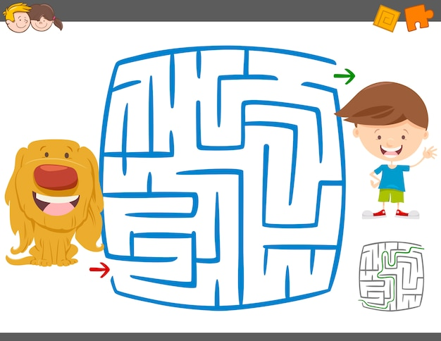Jogo de atividade de lazer labirinto