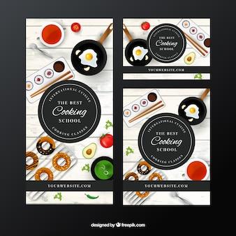 Jogo de bandeiras escola de culinária