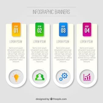 Jogo de bandeiras infográfico com detalhes coloridos