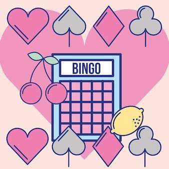 Jogo de bingo de cassino sorte design de imagem de lazer