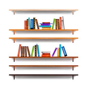 Jogo, de, bookshelves