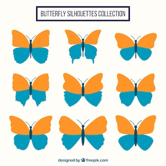 Jogo de borboletas decorativas