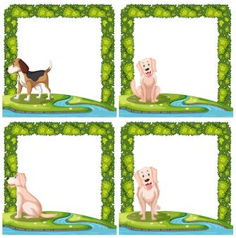 Jogo, de, cachorros, frame, cenas