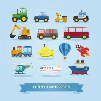 Jogo, de, caricatura, carros