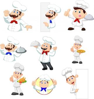 Jogo, de, caricatura, cozinheiro