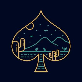 Jogo de cartas spade, símbolo da natureza