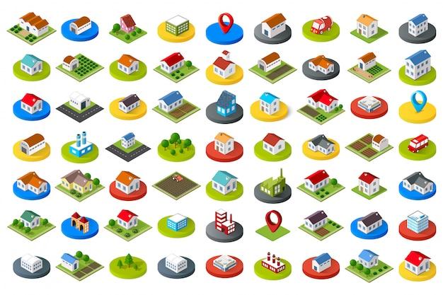 Jogo, de, cidade, ícones