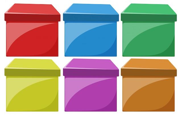 Jogo, de, colorido, caixas