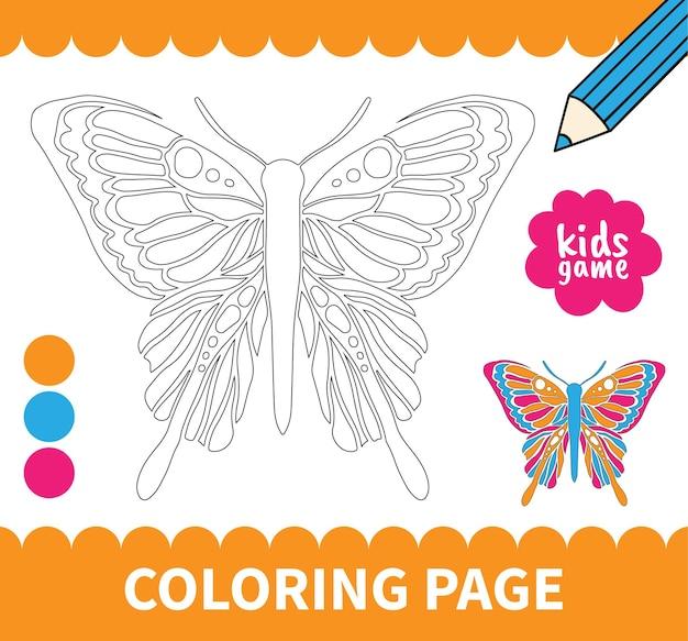 Jogo de colorir para crianças no tabuleiro para crianças em idade pré-escolar e planilhas de alunos do ensino fundamental