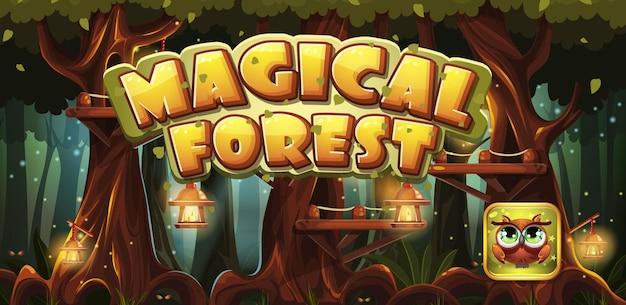 Jogo de computador floresta mágica