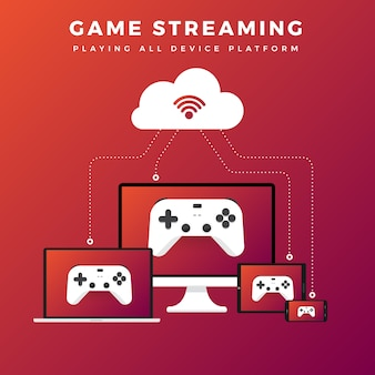 Jogo de conceito de ilustrações streaming de plataforma