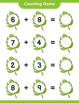 Jogo de contagem, conta o número de monstera e escreve o resultado jogo educativo para crianças