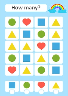 Jogo de contagem para crianças em idade pré-escolar